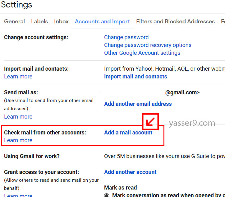 شرح خطوة بخطوة اضافة ايميل اضافي داخل gmail شرح خطوة بخطوة اضافة ايميل اضافي داخل Gmail 3 1