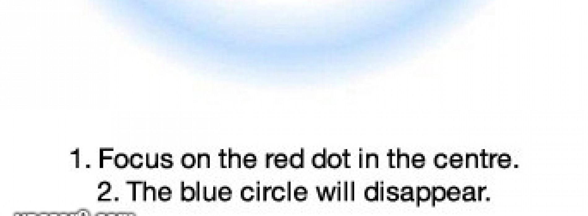صورة | ركز بالنقطه داخل الدائرة وتختفي الدائرة !