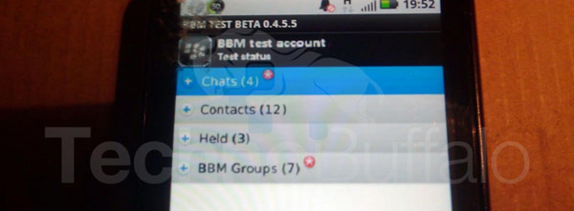 صور | تطبيق بلاك بيري ماسنجر BBM .. قريبا للاندرويد !