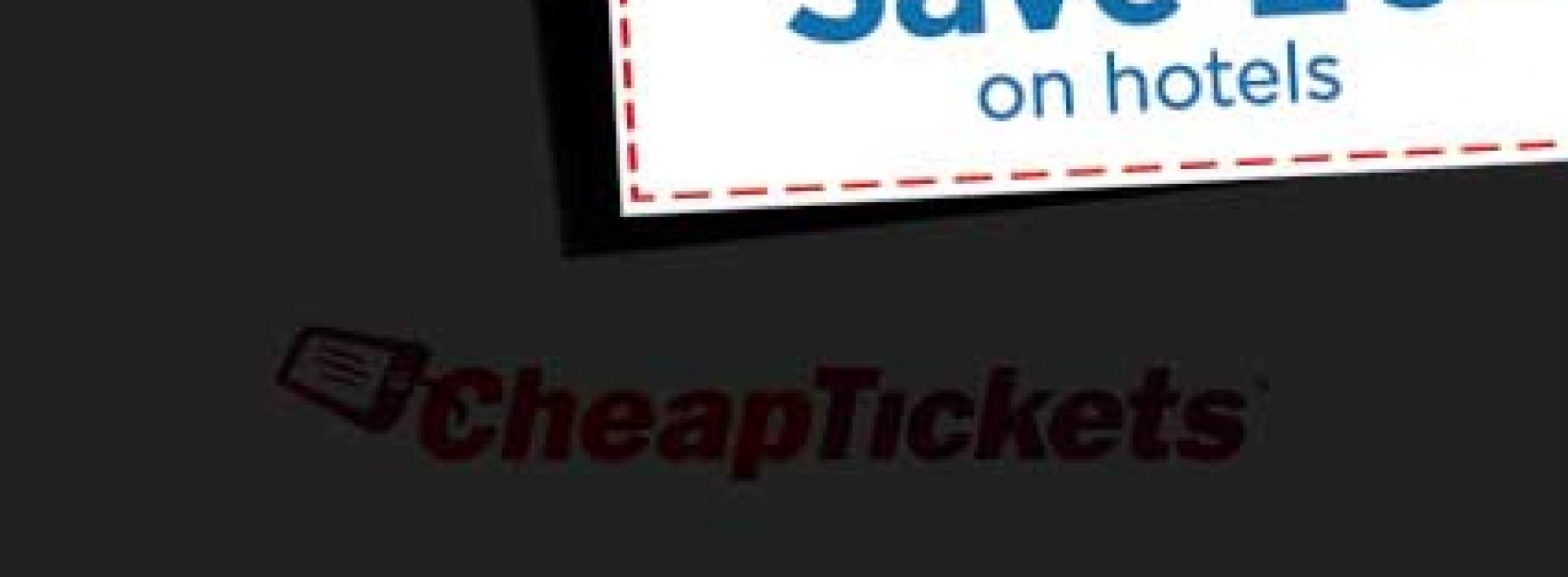 خصم 20% على حجوزات فنادق cheaptickets