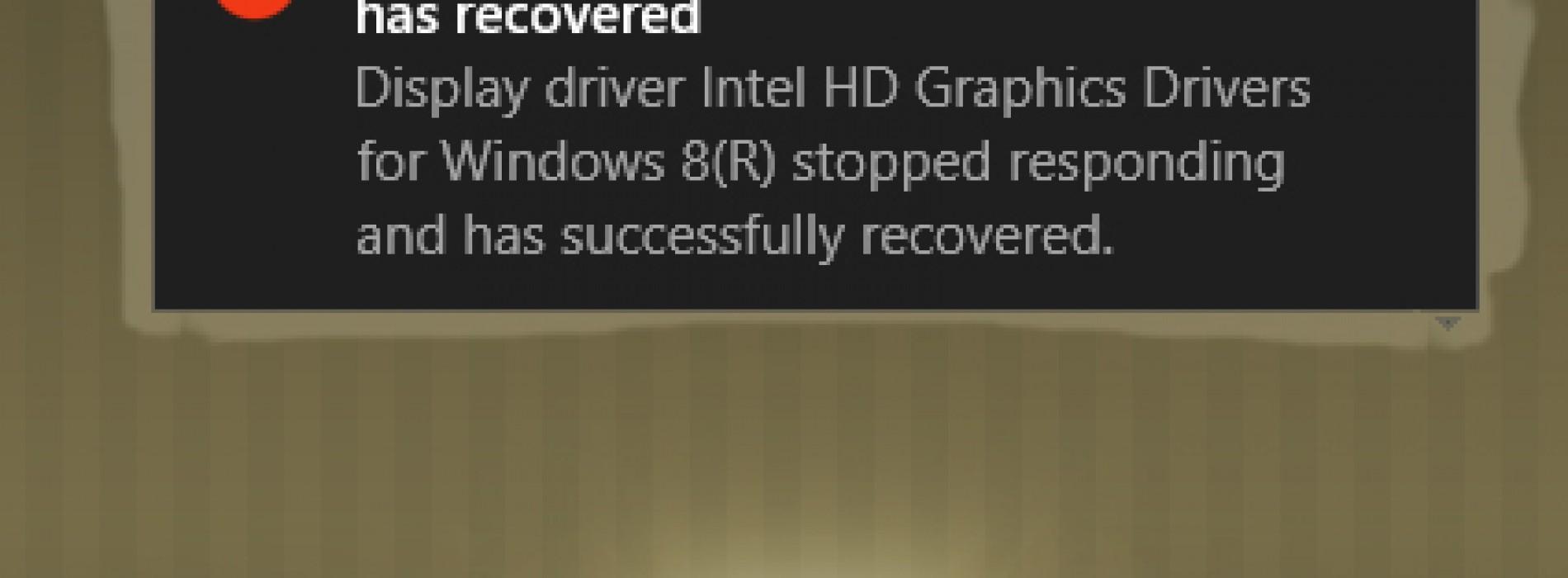 حل مشكلة توقف كرت الشاشة المفاجئ display driver stopped responding