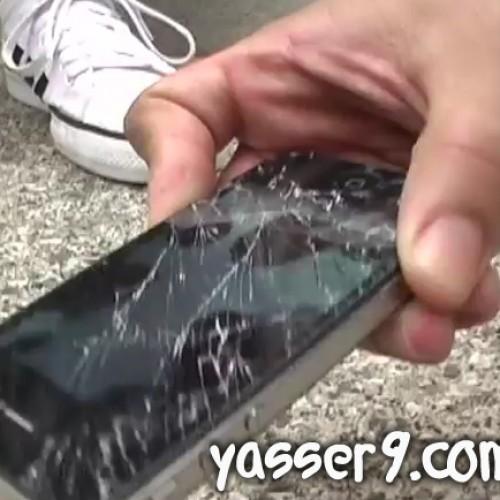 YouTube | تجربه اسقاط ( الايفون 4 اس) Vs (جالكسي اس 2)