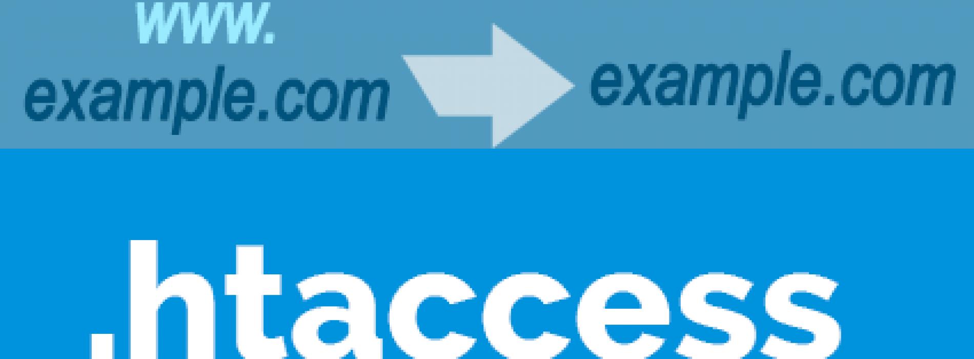 شرح تحويل رابط الموقع الى www او بدون بواسطه ملف .htaccess