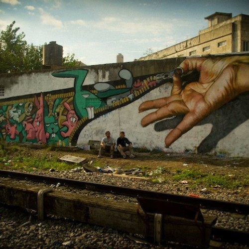 ( صور ) رسمة على احد جدران شوارع بيونس ايريس