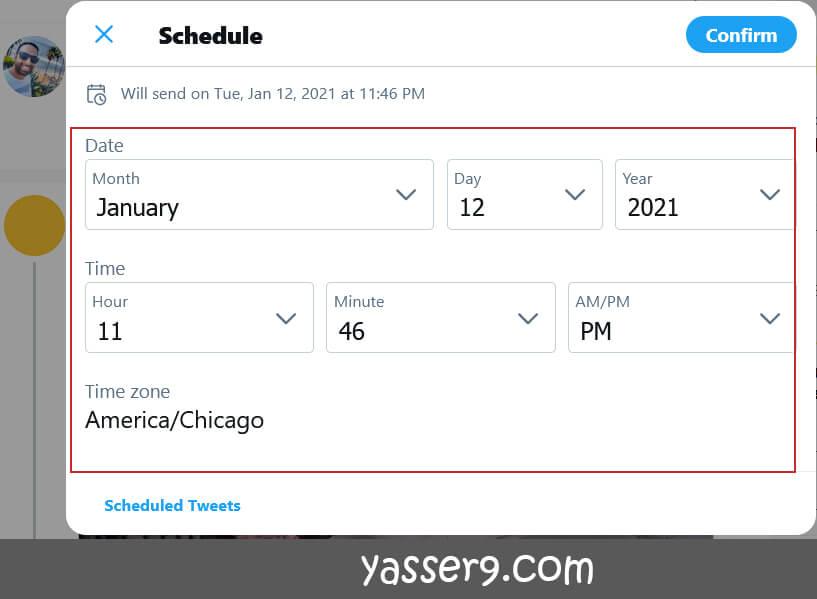 جدولة التغريدات في تويتر مباشرة  جدولة تغريدات تويتر schedule Twitter2